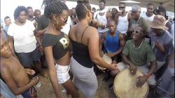 Live Drumming in Hopkins, Belize